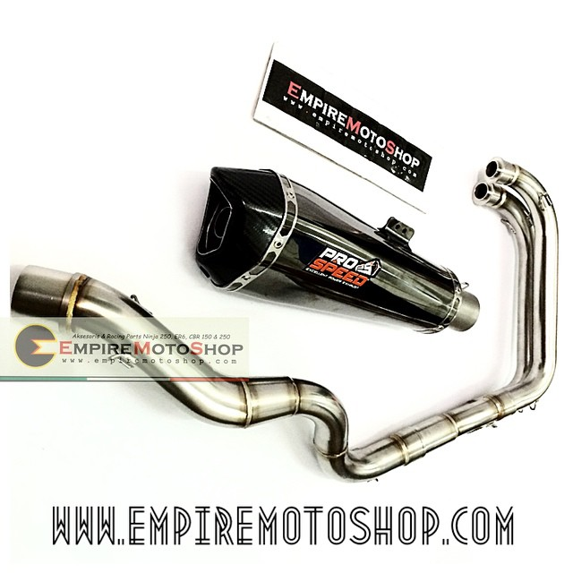 Knalpot Prospeed Shark Blackseries Fullsystem Ninja 250 FI