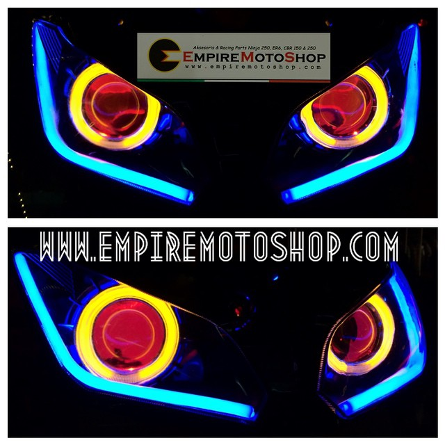 HID Projector  AES6 + Headlamp + Bottom Eyelid Ninja 250 FI