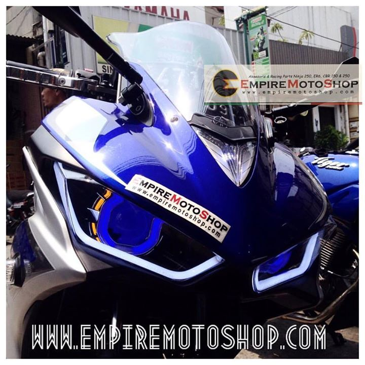 Proyektor AES7+Bottom Eyelid + Headlamp Yamaha R25