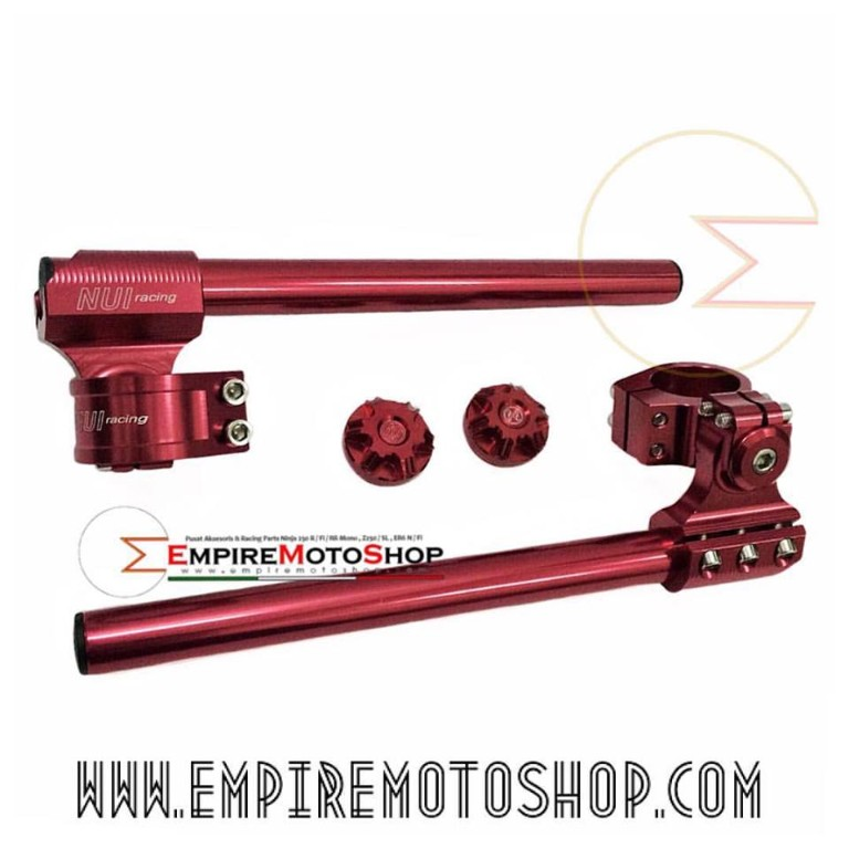 Stang NUI Adjustable + Tutup Shock Ninja 250 Fi Merah