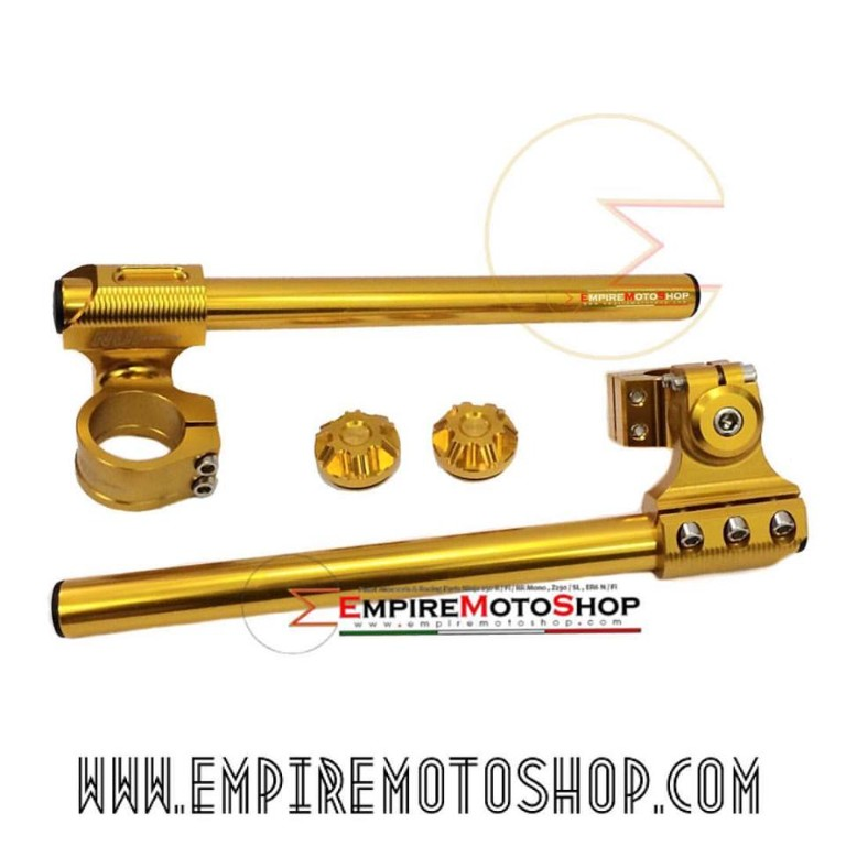 Stang NUI Adjustable + Tutup Shock Ninja 250 Fi Gold