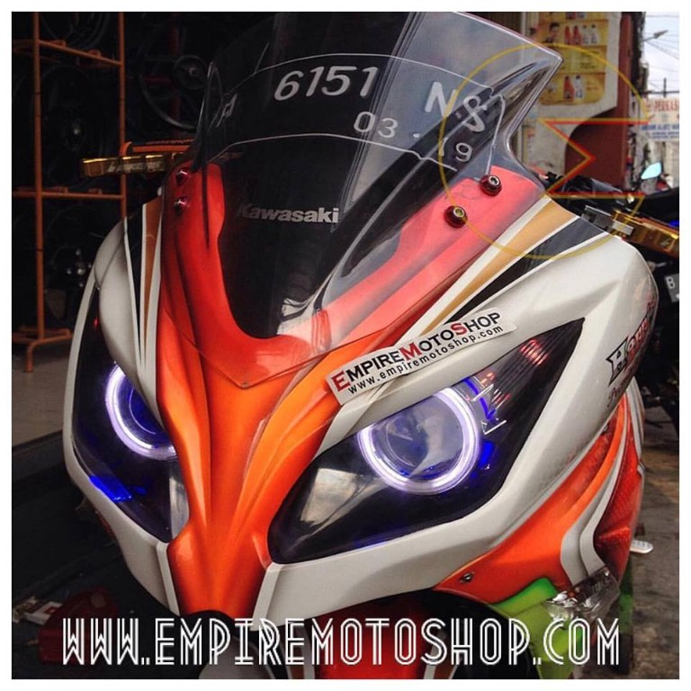 Proyektor Demon Eyes + Headlamp N250 FI