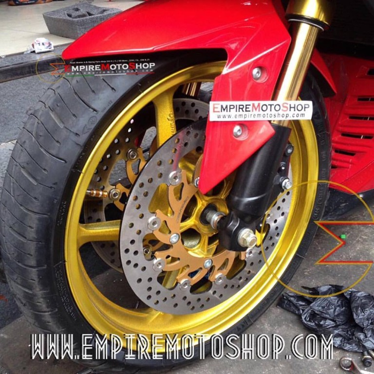 Upside Down Equinox Double Disc Full Gold Kawasaki Ninja250 Fi