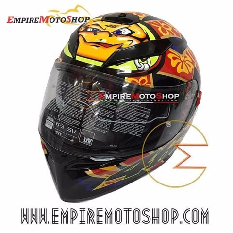 Helm AGV K3 SV Mugello 2001 Black
