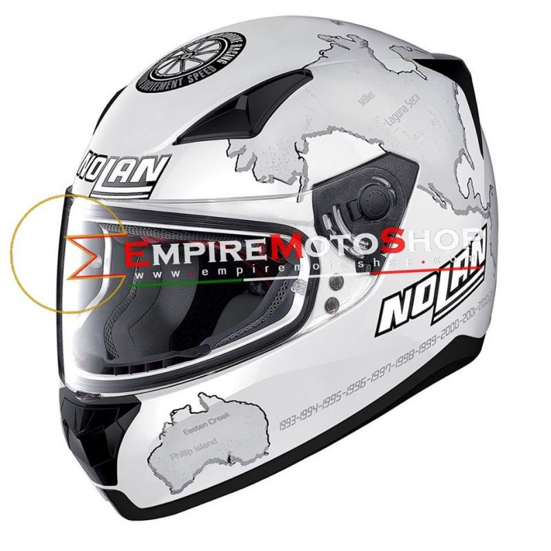 Helm Nolan N60.5 Checa White N60-5 029