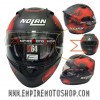 Helm Nolan N64 Checa Flat Aspalth Black