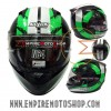 Helm Nolan N64 Twirl Black Green