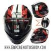 Helm Nolan N64 Twirl Black Red