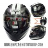 Helm Nolan N64 Twirl Metal White Black