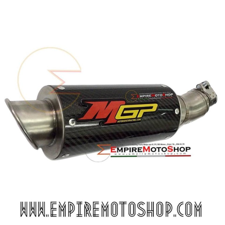 Knalpot MGP Carbon Slip On Ninja 250 FI Z250