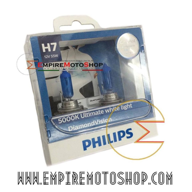 Bohlam H7 Philips Diamond Vision 5000K