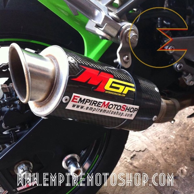 Knalpot MGP Carbon Slip On Ninja 250 FI
