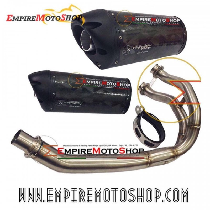 Knalpot Two Brothers Fullsystem Blackseries Kawasaki ER6