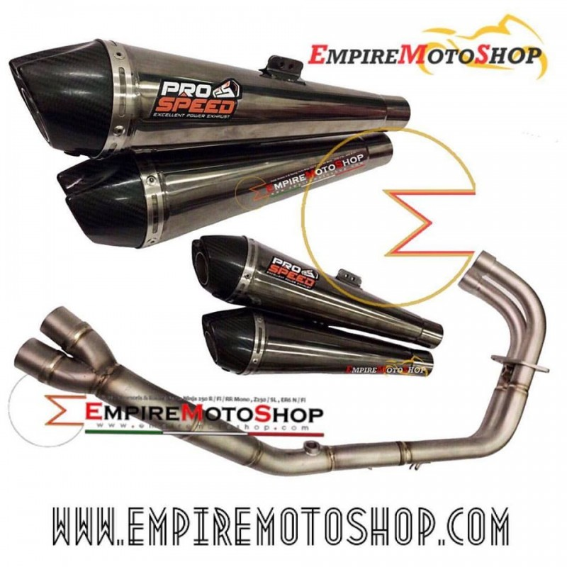 Knalpot Prospeed Honda CBR250RR MF Black Double Pipe